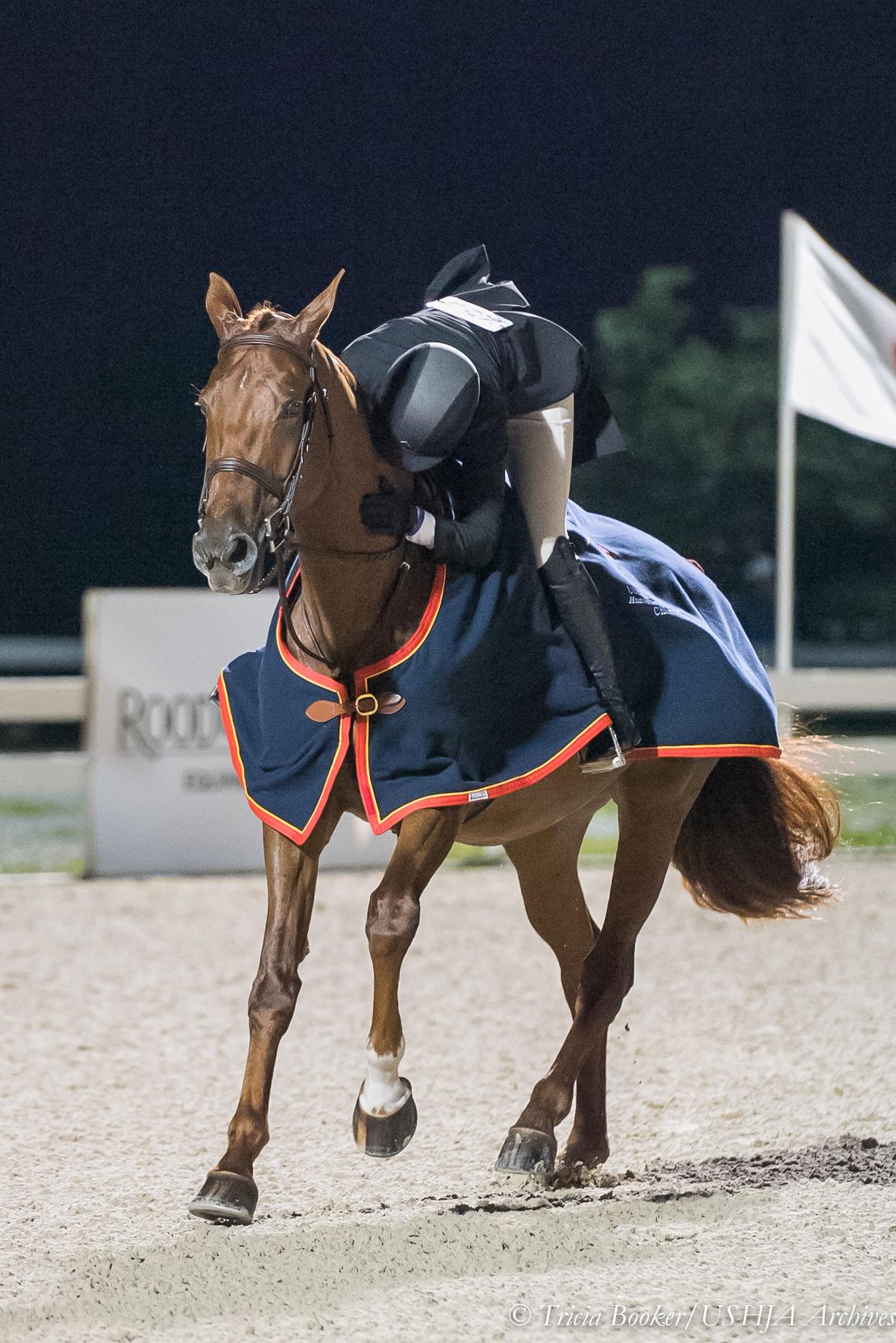 Victory gallop hug!