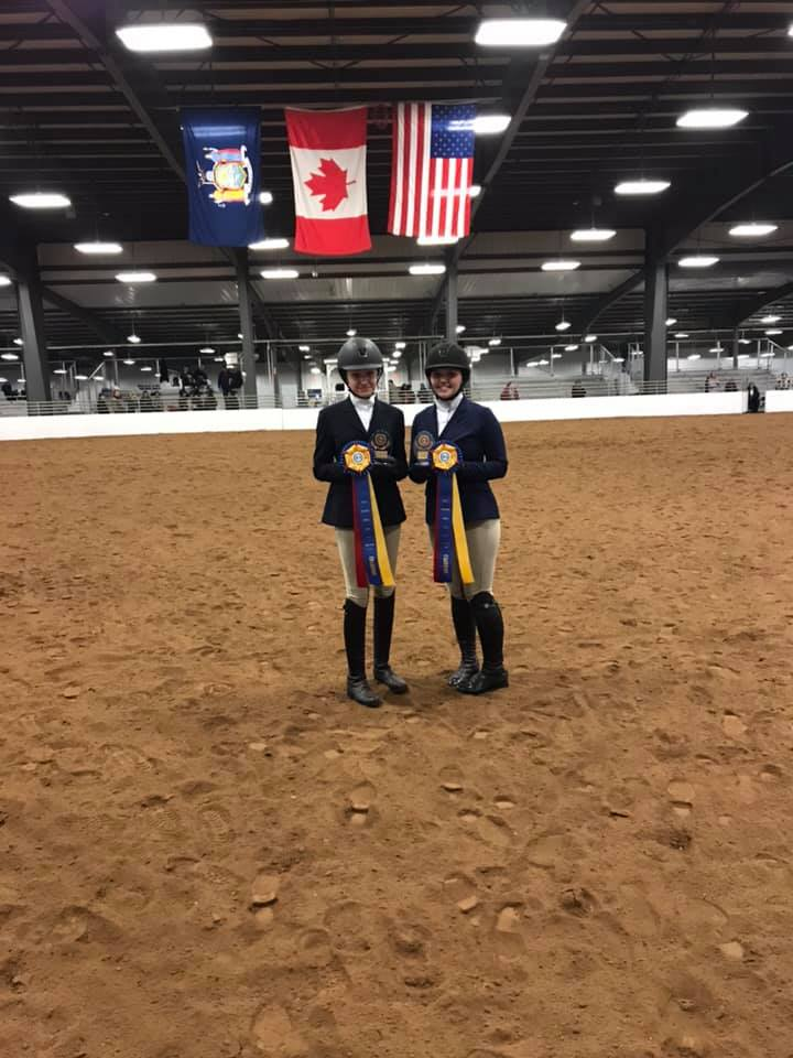 Alexandra and Emma were both high-point champions for the Middle School and High School, respectively.
