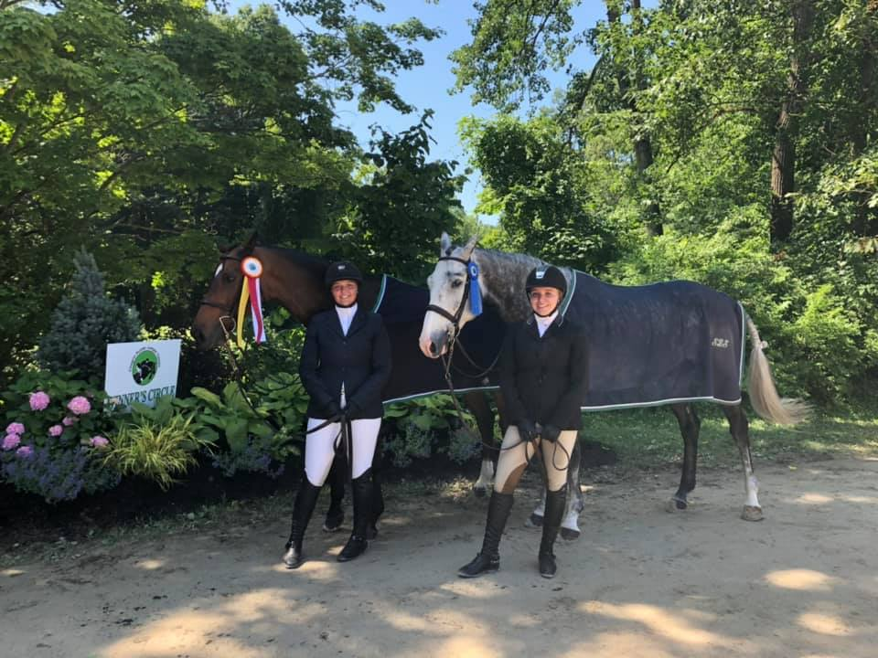 Crisp and Emma Walters with Stardust and Christine Ruh