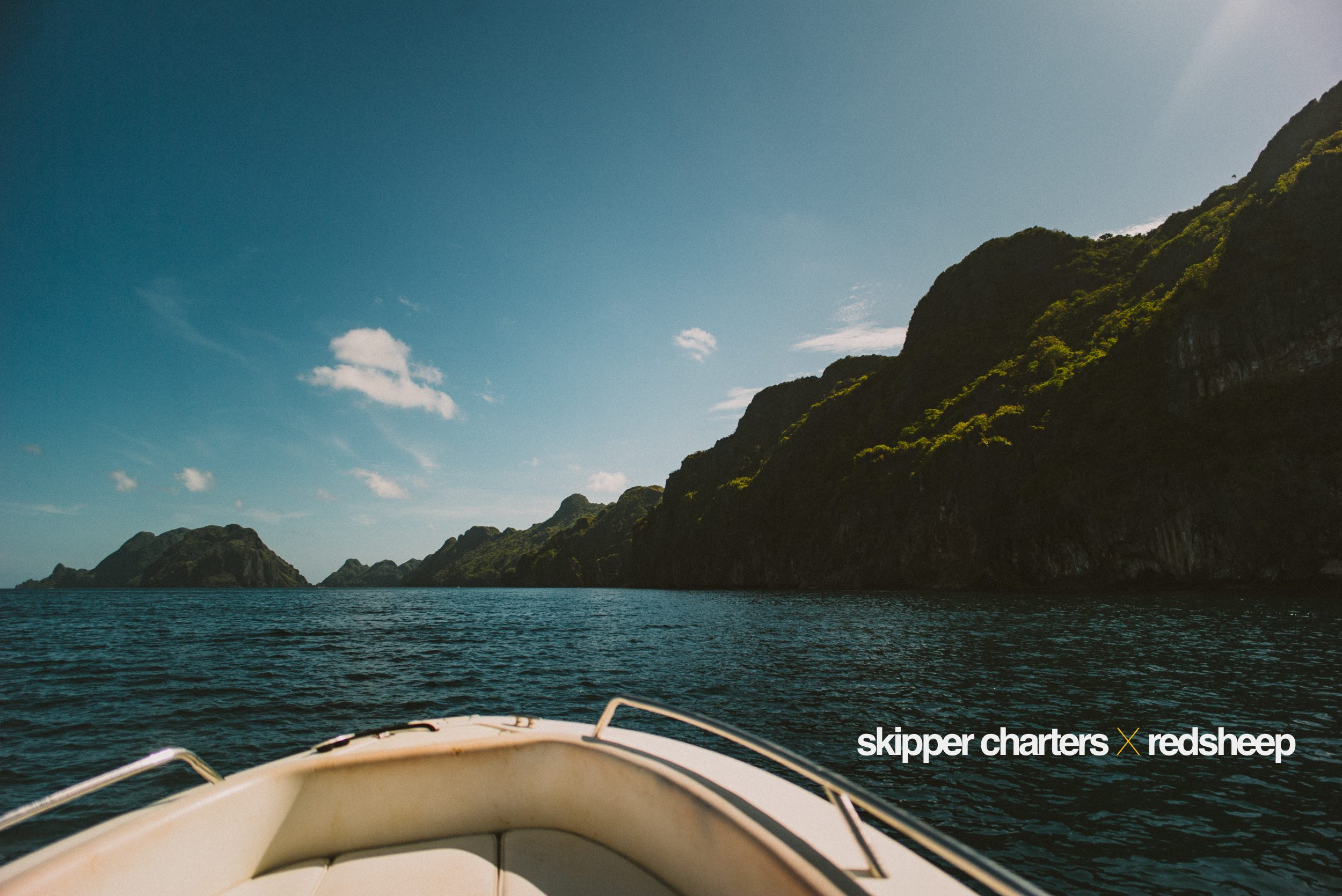 May 16, 2017.  What was perhaps the best way to end last week's shoot-a-thon in El Nido:on a slick, luxury speed boat, darting through Bacuit Bay's waters at 80 knots, going where we wanted to go, doing what we wanted to do.Thank you Skipper Charters for this private tour! (Hey Monica,Montri & Begs!)