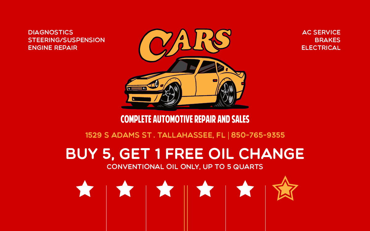 COME IN TO GET YOUR OIL CHANGE REWARD CARD TODAY!