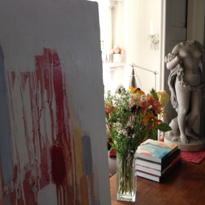 Desk and painting, 2016