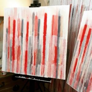 Paintings in progress, 2018