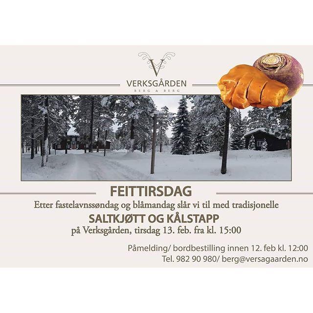 #Verksgården #feittirsdag #tradisjonsmat