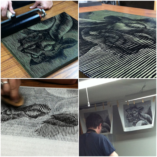 "Editioning the ""L'ancien"" gargoyle print"
