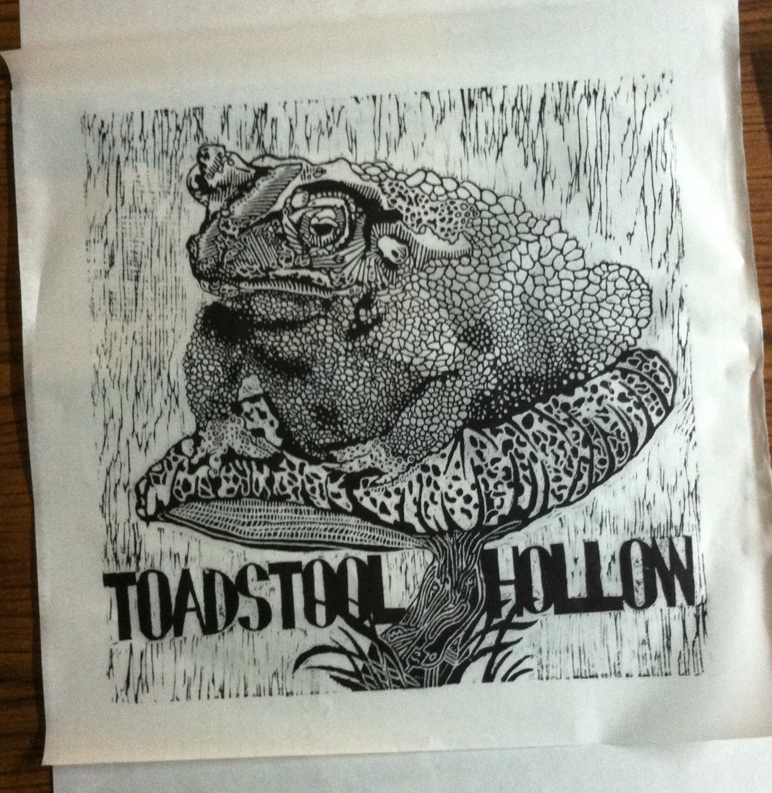 "Final Print ""Toadstool Hollow"""
