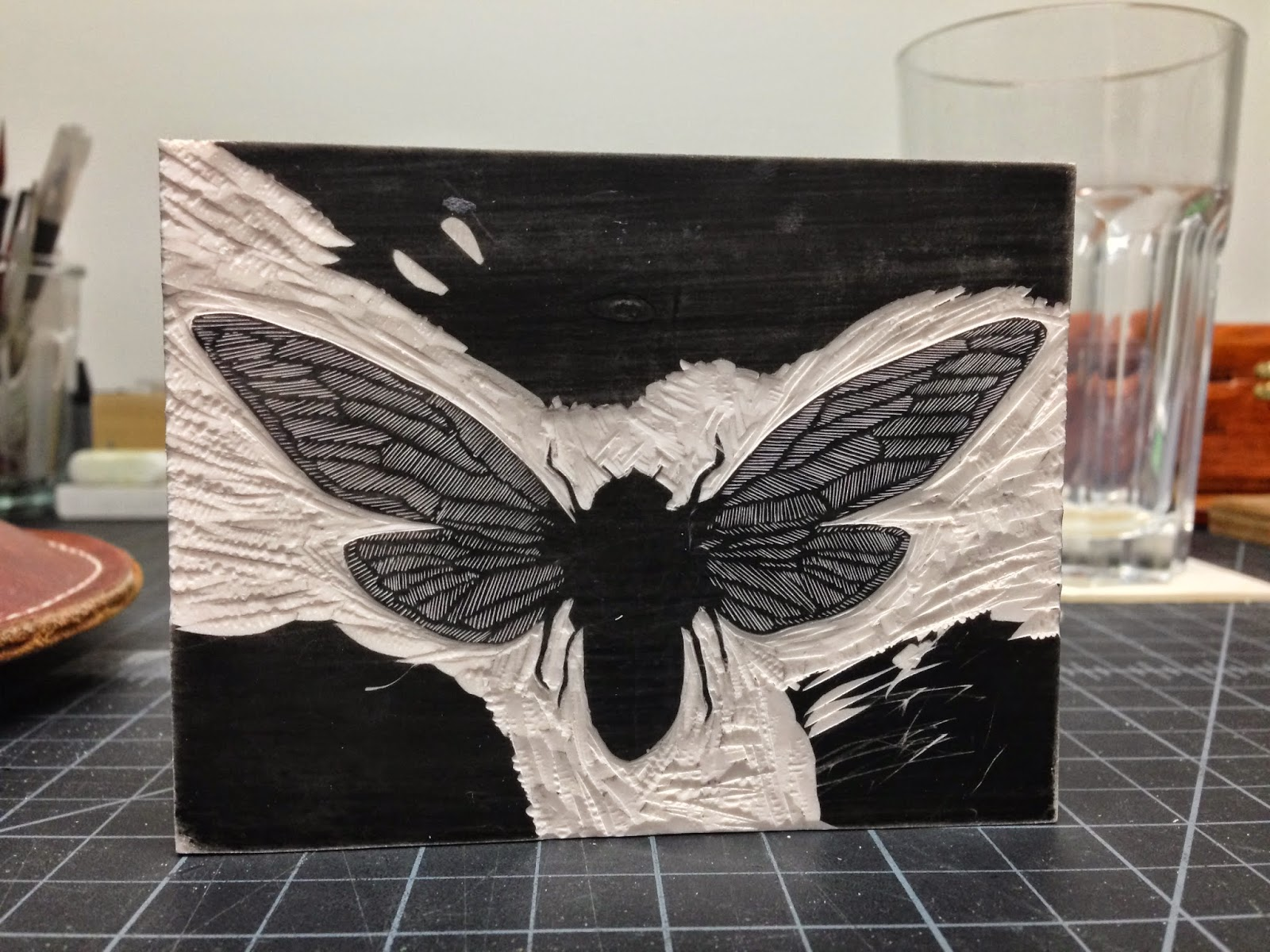 "An early stage of the ""Cicada"" block."
