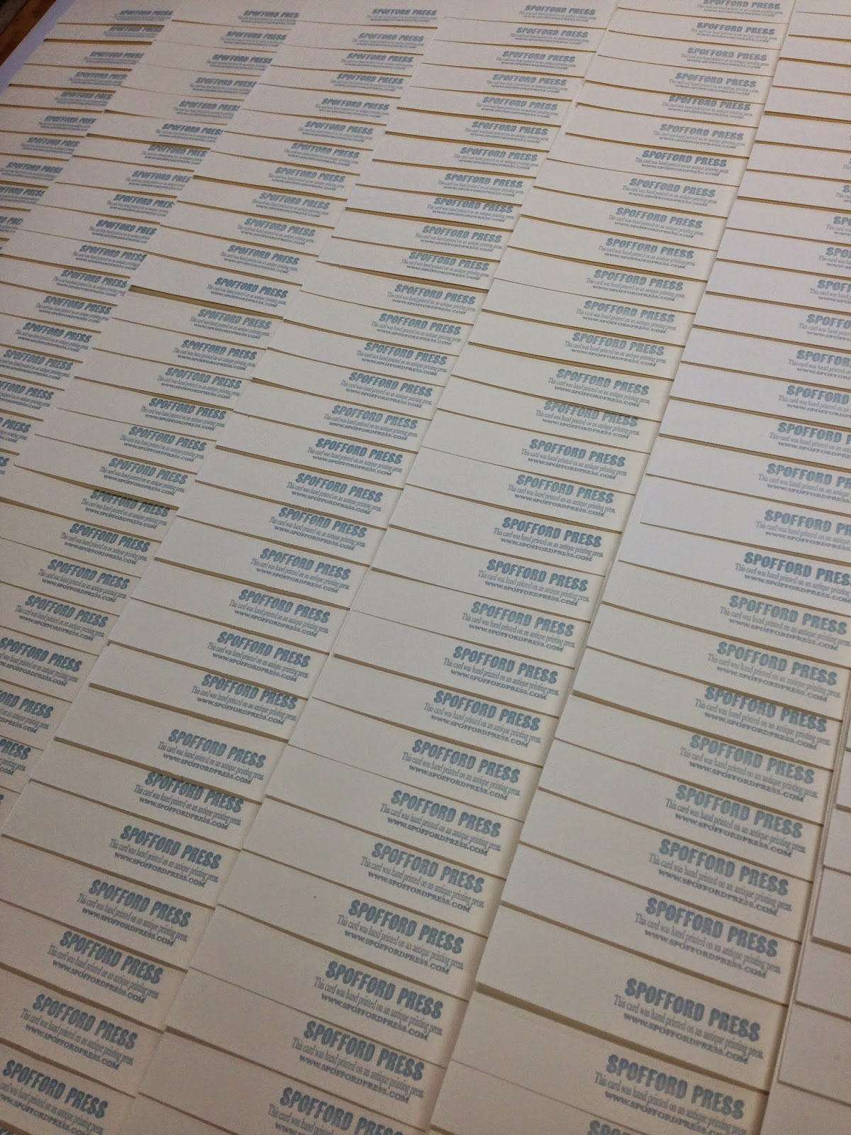 Yeah, we printed a few...