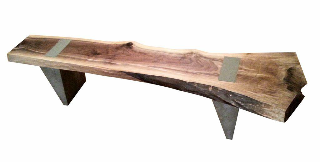 Indoor/Outdoor Bench with Concrete Legs