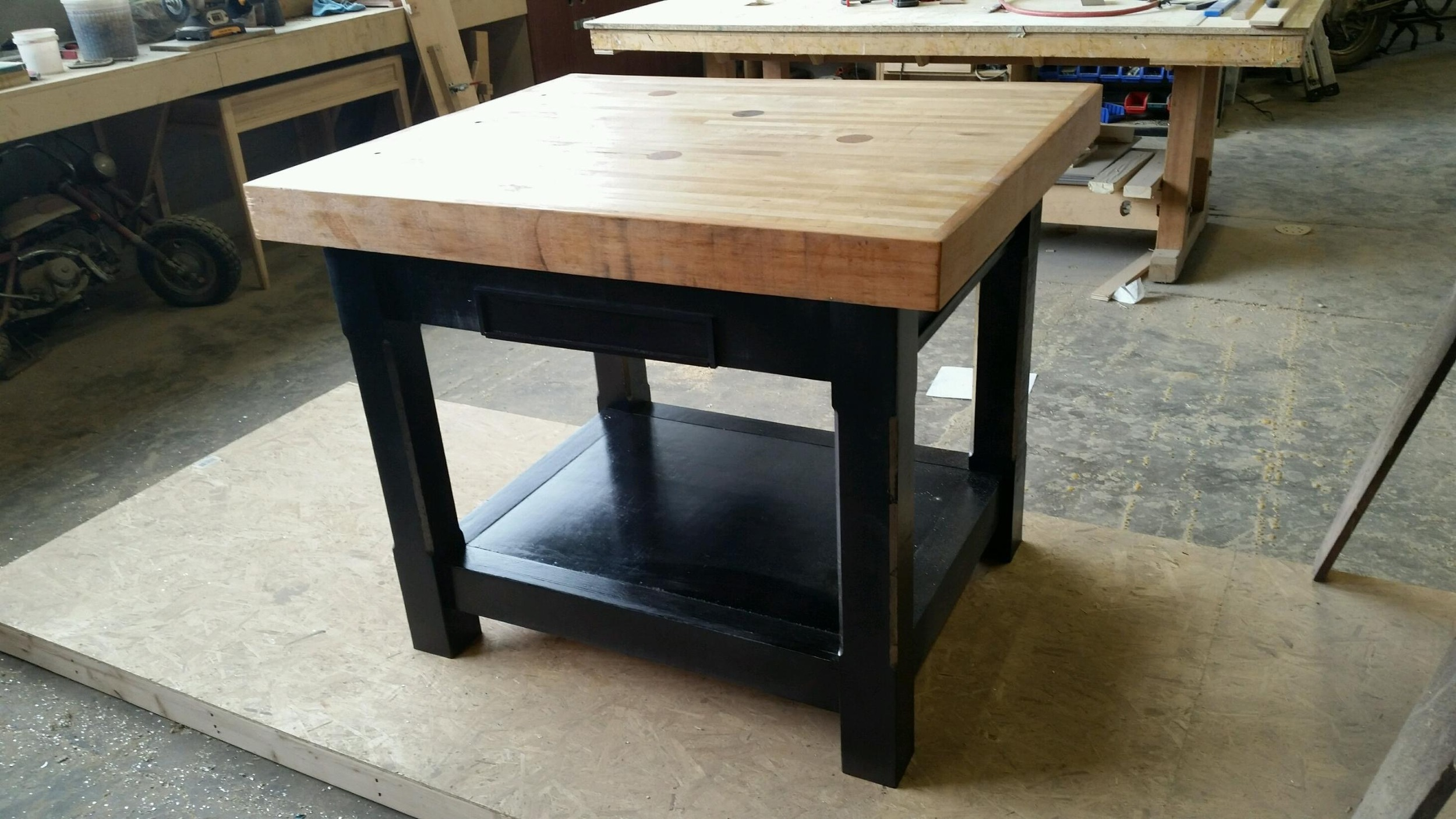 Reclaimed Bowling Ally Floor Butcher's Block