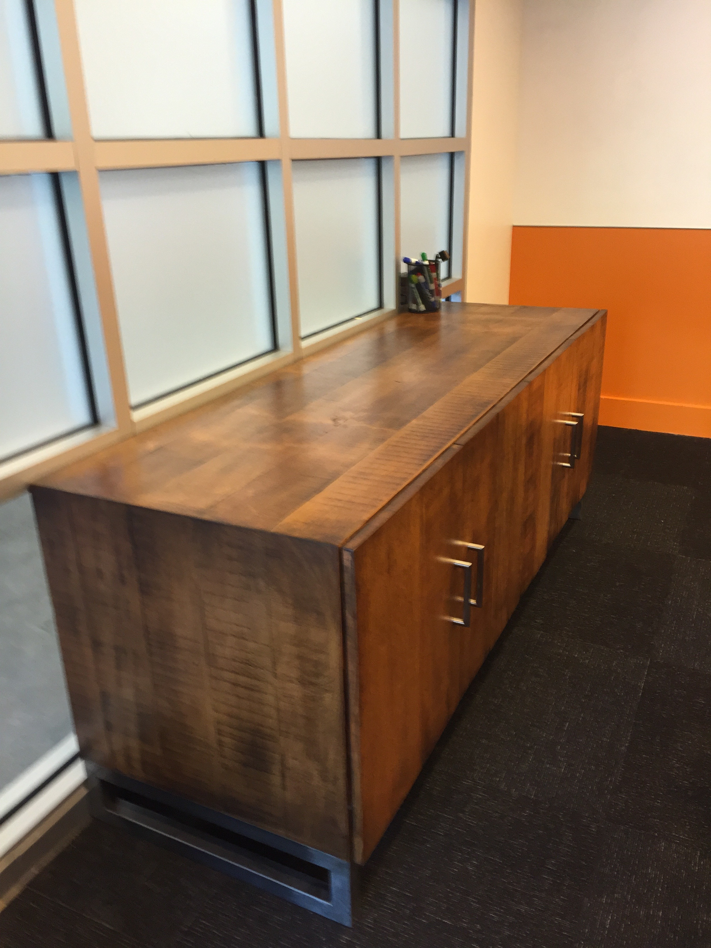 Credenza with Metal Legs