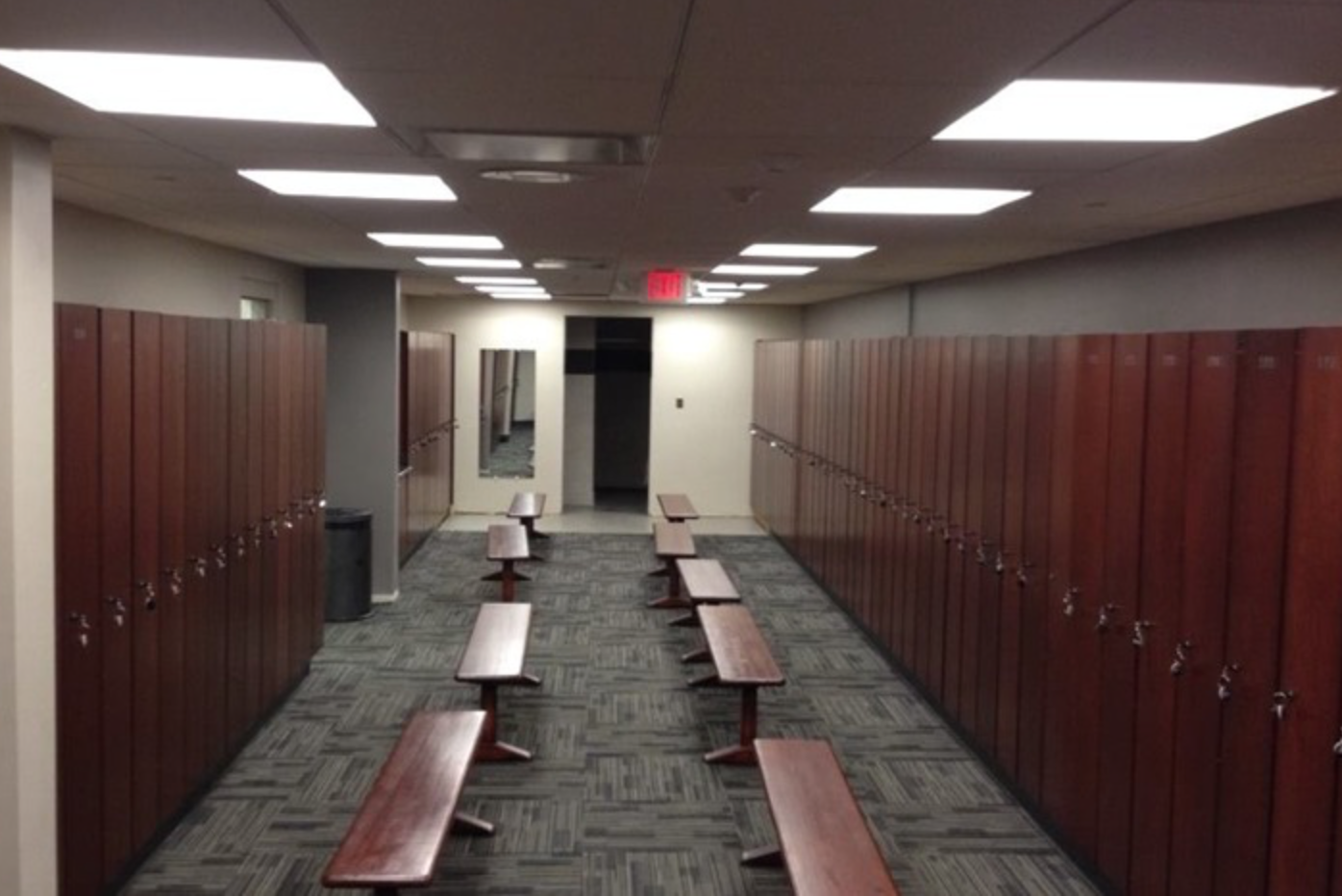 Custom Lockers at Wheaton Athletic Center