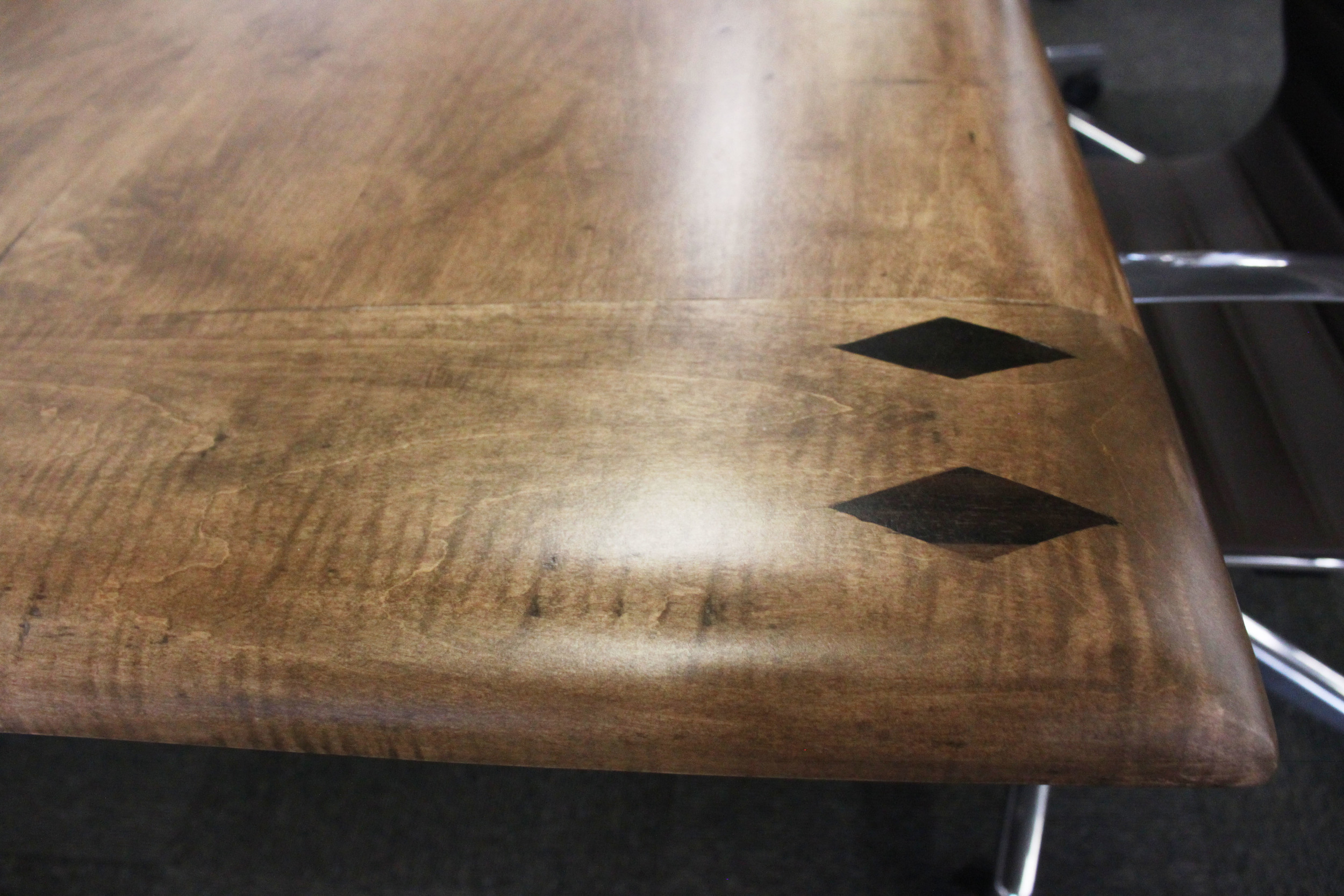 Detail on Starburst Inlay Table