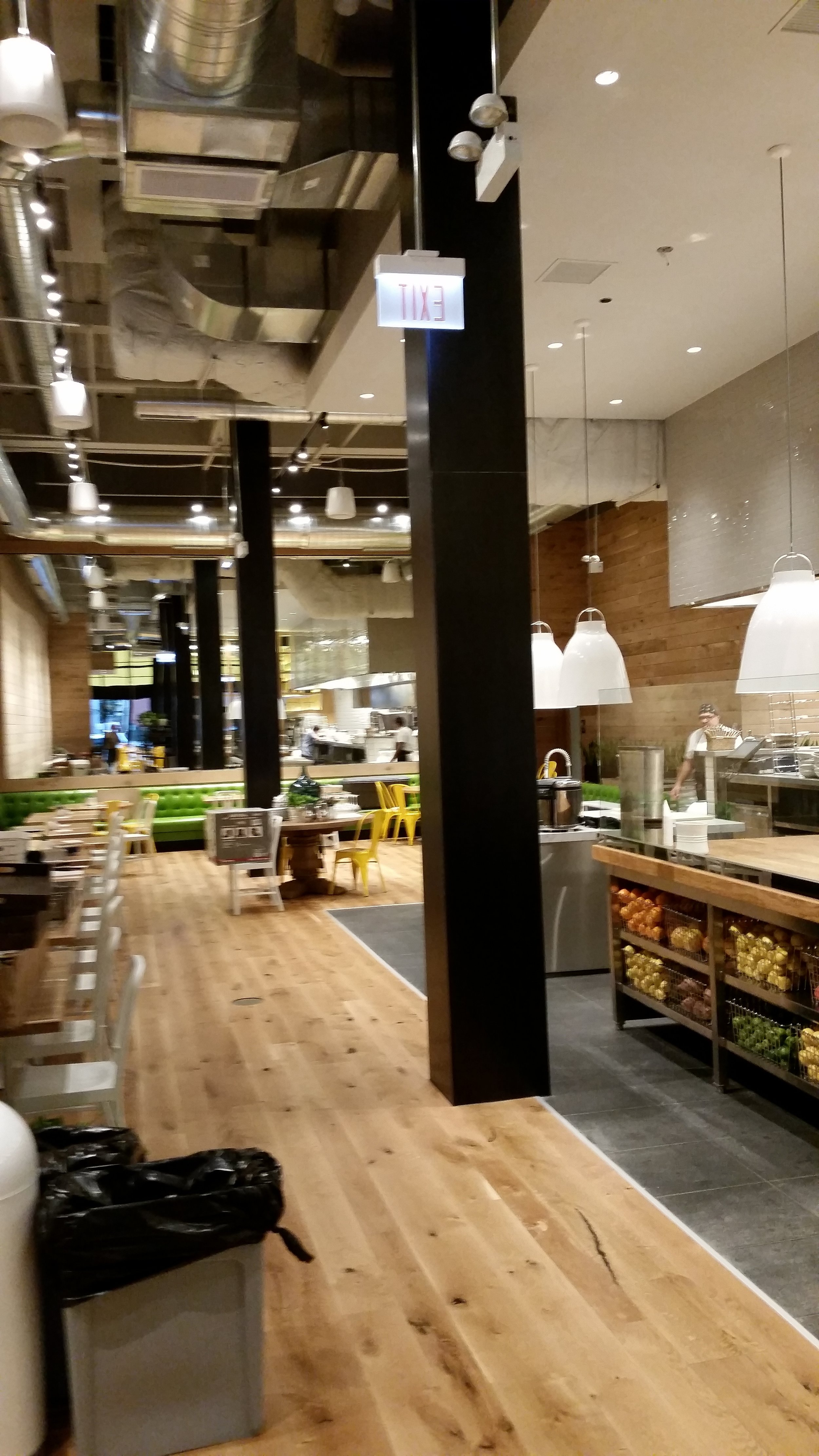True Food Kitchen Steel Wrapped Columns