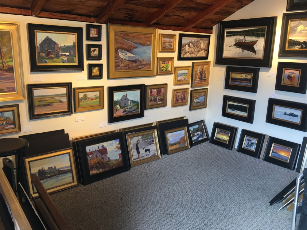 An inside view of the Todd Bonita Gallery in Perkins Cove.