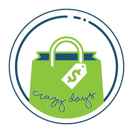 Crazy Days Circle Logo