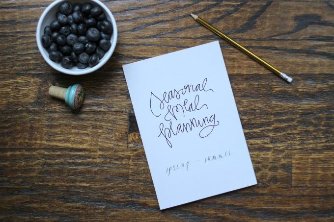 Seasonal Meal Planning Journal