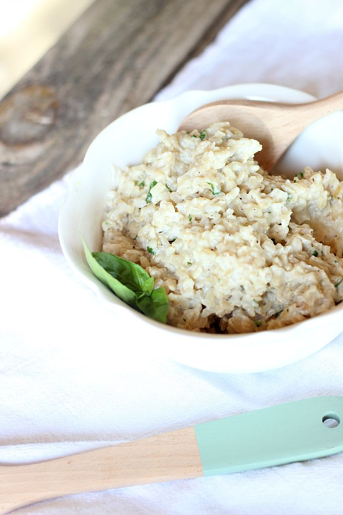 Creamy Coconut Basil Rice...simple side dish!
