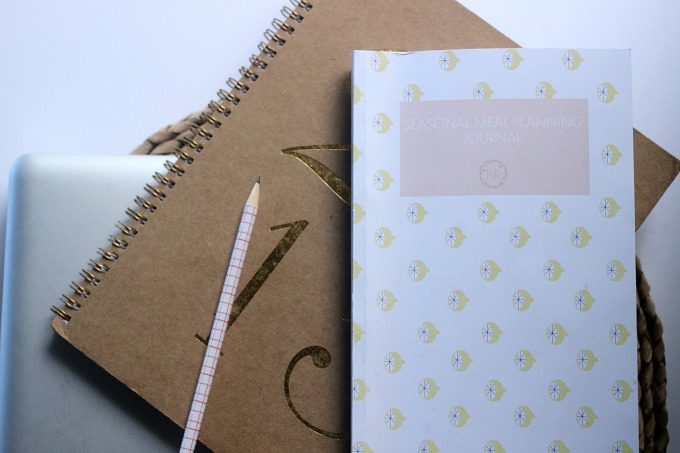 how to use your seasonal meal planning journal