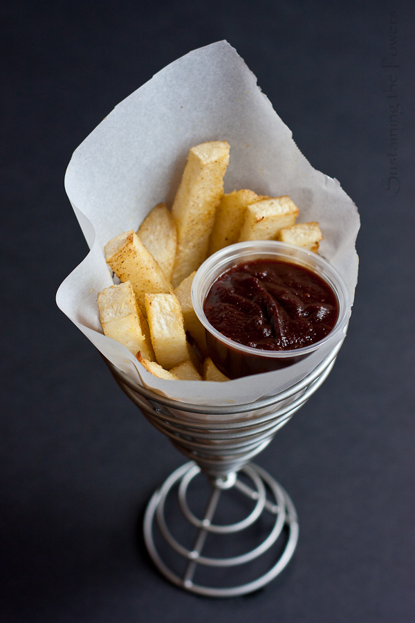 Jicama Fries with Balsamic Ketchup