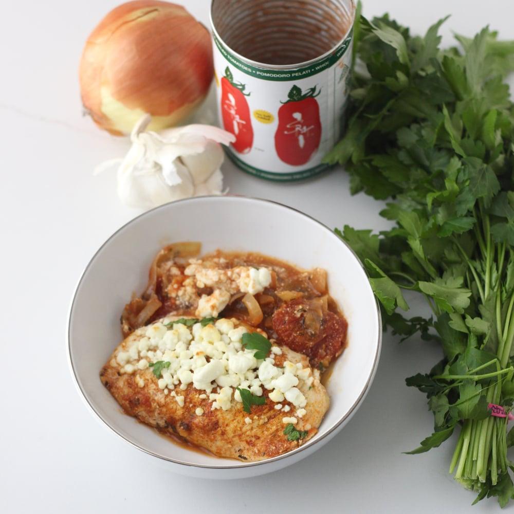 One Pot Dinner: Skillet Greek Chicken