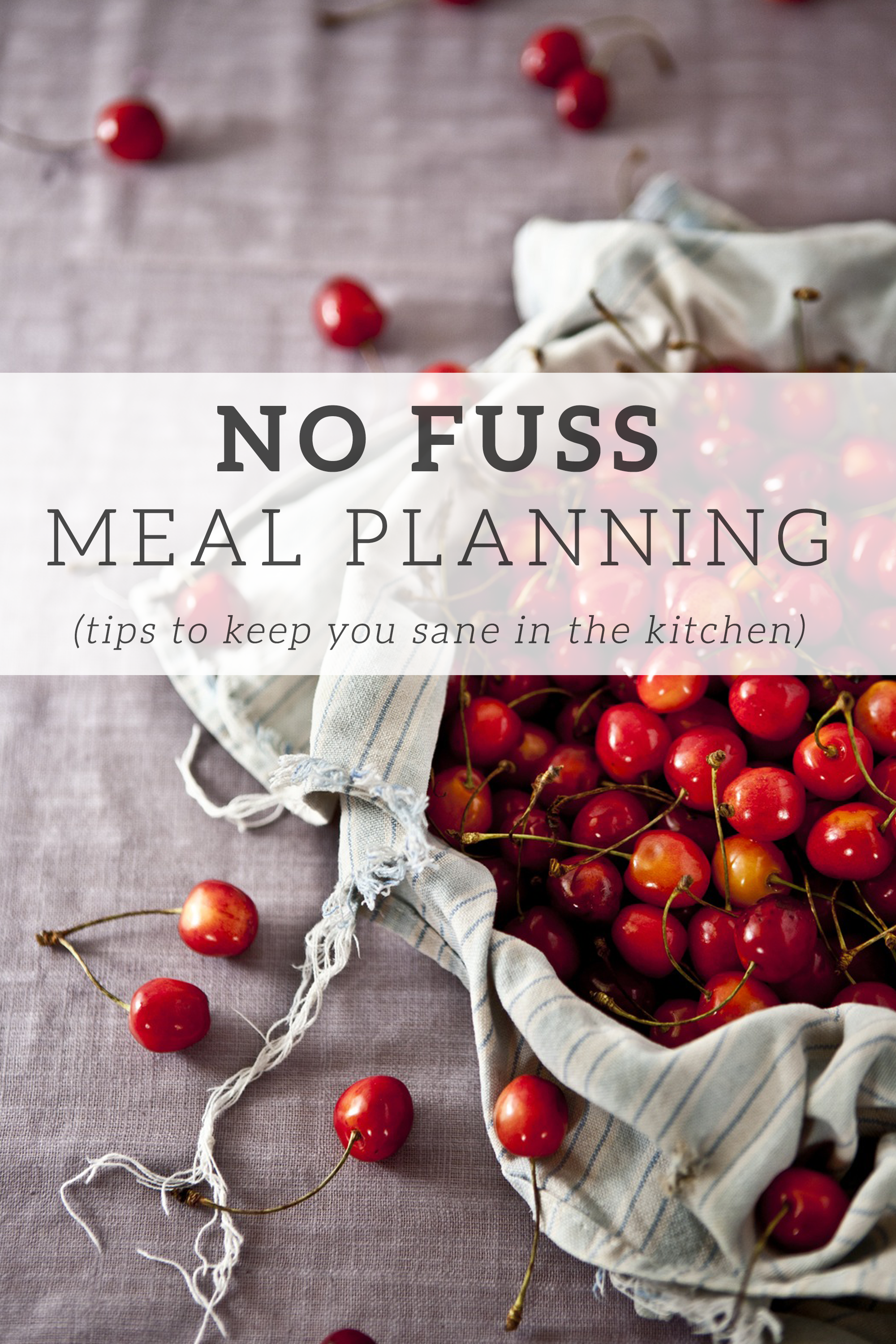 A Guide to No Fuss Meal Planning