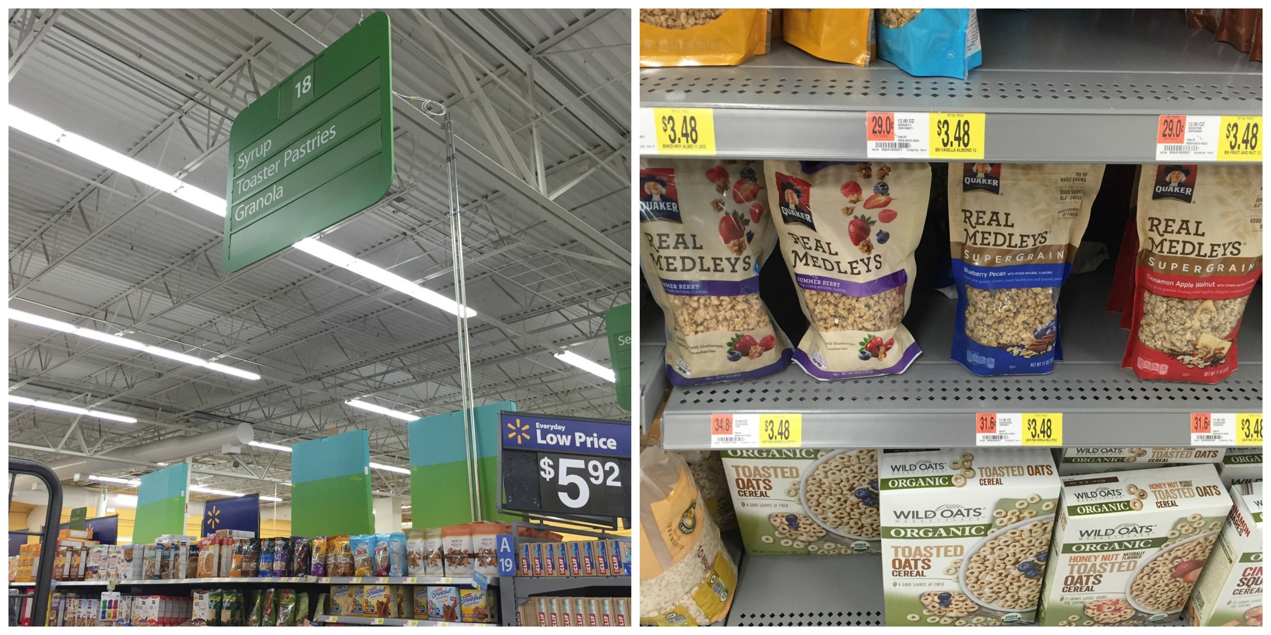 Get in the kitchen with your little ones using Quaker® Real Medleys SuperGrain Granola, found at WalMart