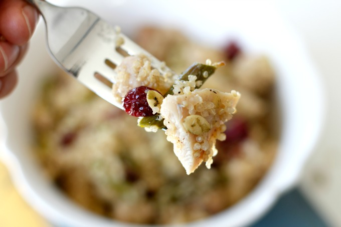 Roasted Asparagus, Chicken + Quinoa Salad ... an easy winter salad!