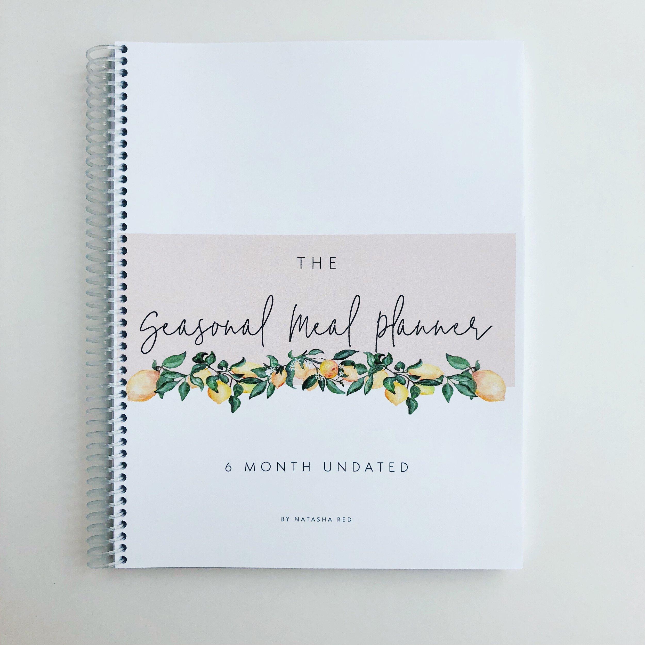 Seasonal Meal Planner | 6 Month Undated