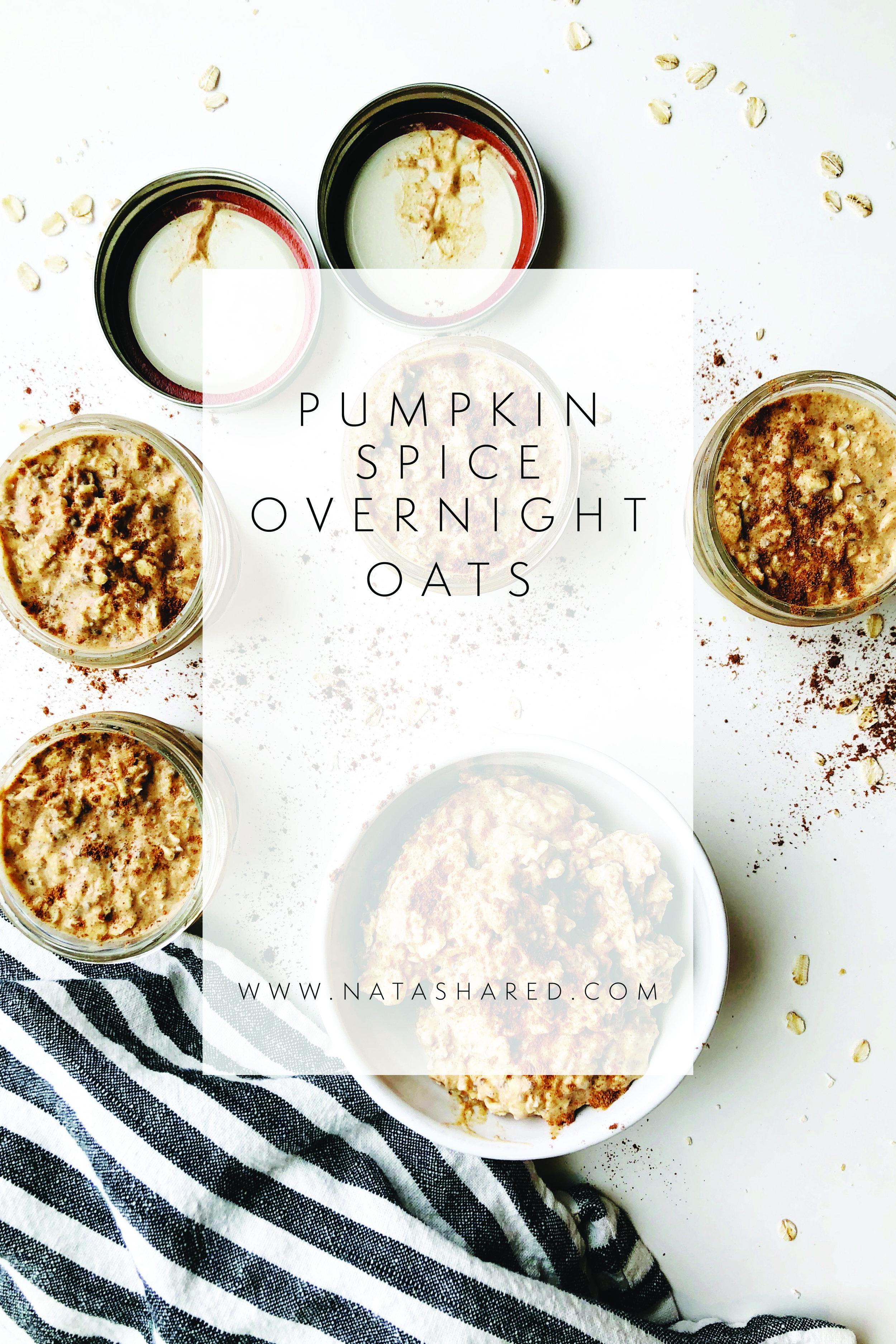 Pumpkin Spice Overnight Oats | Overnight Oats Club