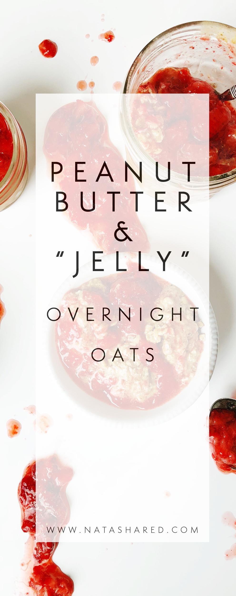 Peanut Butter & Jelly Overnight Oats | Overnight Oats Club