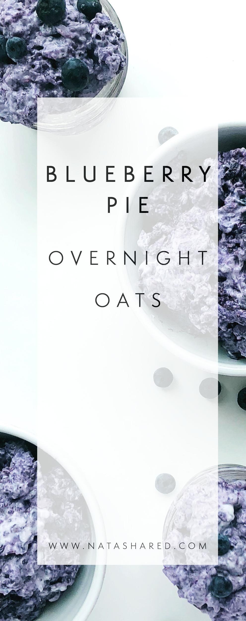 Blueberry Pie Overnight Oats | Overnight Oats Club