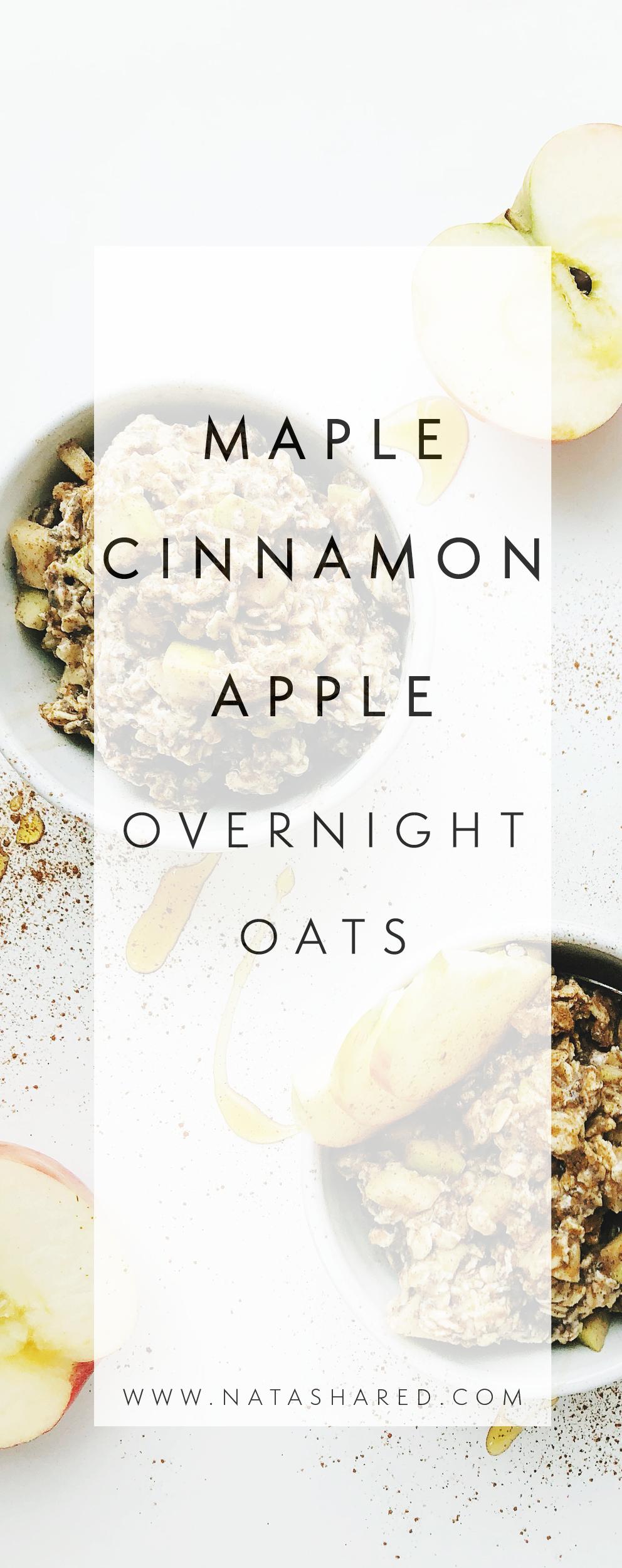 Maple Cinnamon Apple Overnight Oats   Overnight Oats Club