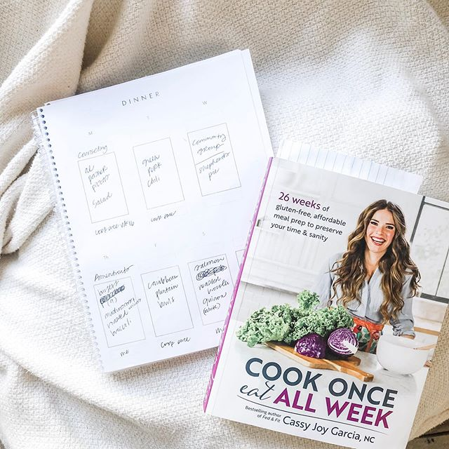 I keep our meal plan pretty organized around here, and for good reason. As a mama to two energetic  kiddos, working, doing ministry, and just being a human being with limited energy and resources, I need to know that meals are simple and ready to go without tons of time planning and preparing. That's why I was so excited when I saw this new cookbook from @fedandfit come out. It's the perfect complement to the Seasonal Meal Planning method with seasonally based meals that have drastically reduced our grocery bill each week!  Massachusetts has such a higher cost of living, our groceries have been super expensive since moving, even with the most tight meal plan. I think her method of batch cooking a large portion of meat and then assembling it 3 different ways to make unique meals is the trick to the savings.  Paired with the #seasonalmealplanner I know that all my meals, including breakfast, lunch and snacks are ready to go for the week ahead. As a mom, this freedom is invaluable as I seek to love my people well and get us fed every day. Seasonal Meal Planning is the way to go if you're feeling that 5 o'clock dinner time meltdown, and I highly recommend this book to go with it!! [catch my stories today for a step by step on how I meal plan each week and how I'm incorporating #cookonceeatallweek to save even more time + money.]