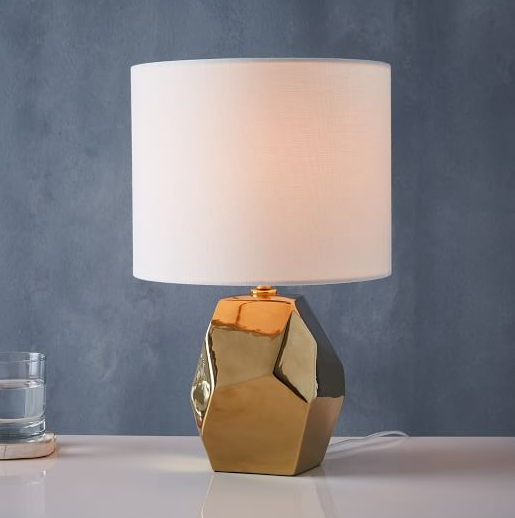 DESIGNING WITH A MODERN COLOR PALETTE, Gold Lamp from West Elm