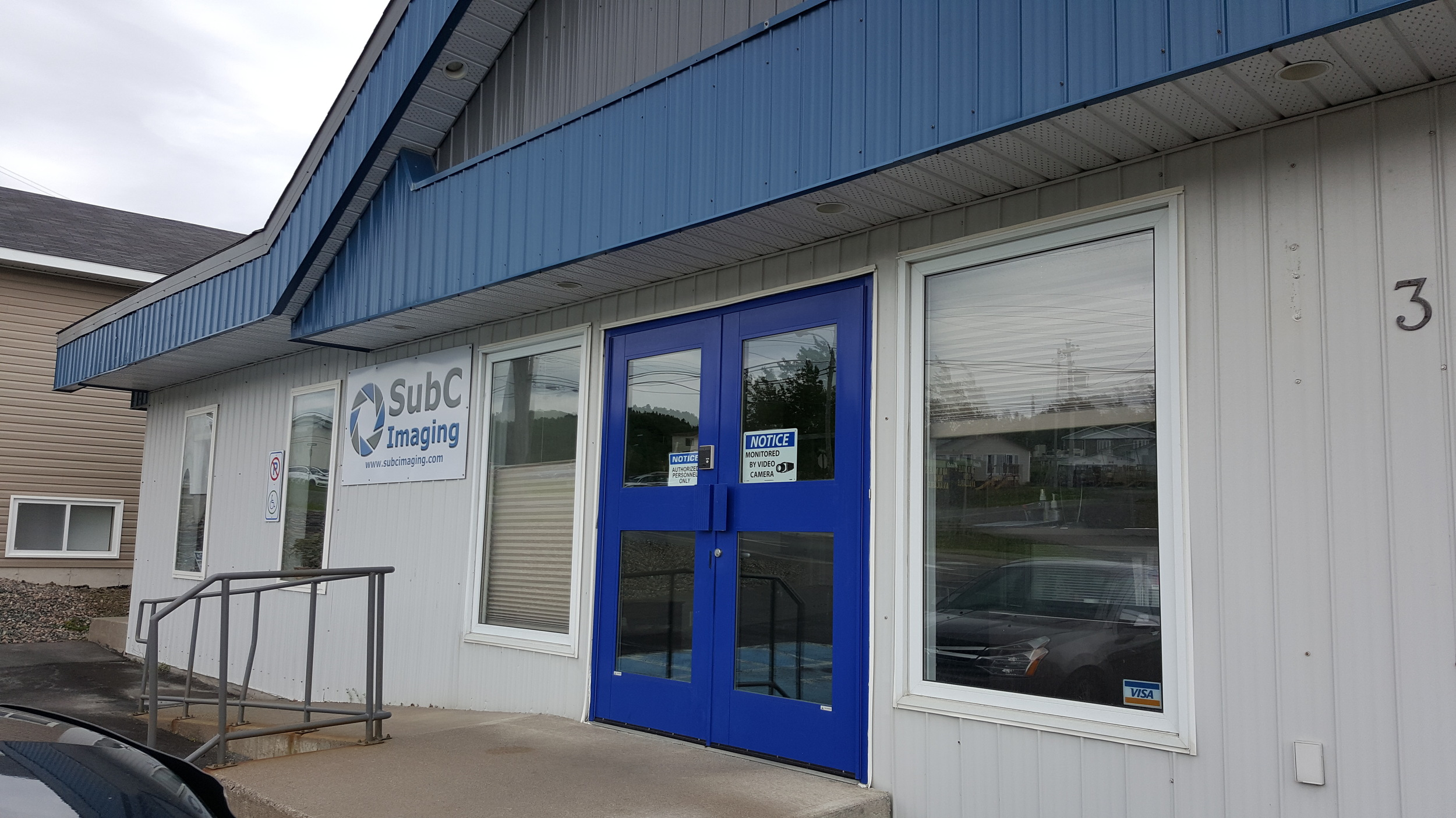 The outside of SubC Imaging's Clarenville offices.
