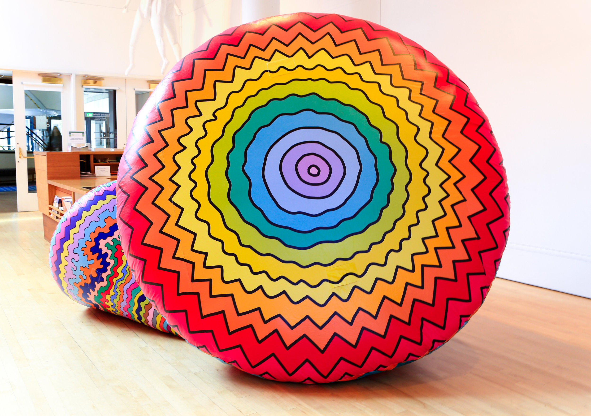 Inflatable Cone #1 (larger cone), 2019, inflated nylon, 84 x 78x 108 in.