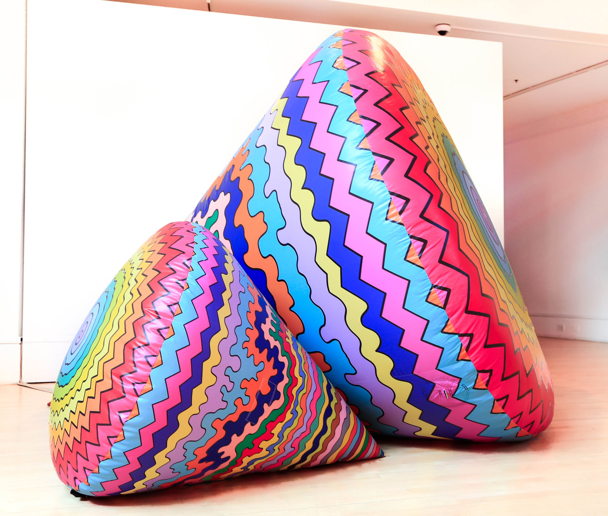 Inflatable Cone #2 (smaller cone), 2019, inflated nylon, 39 x 48x 58 in.