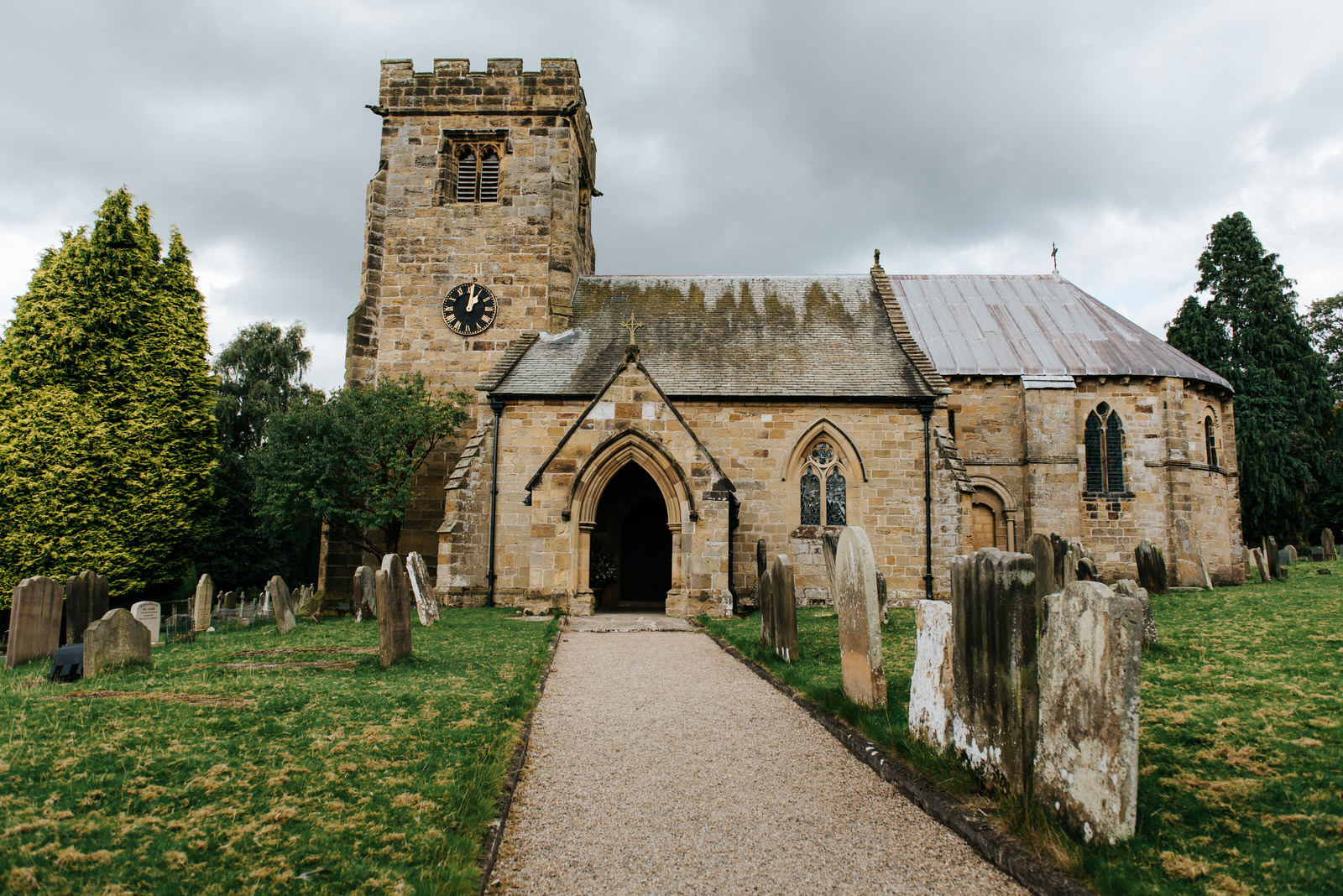Exterior shot of Felixkirk Church in Thirsk, North Yorkshire