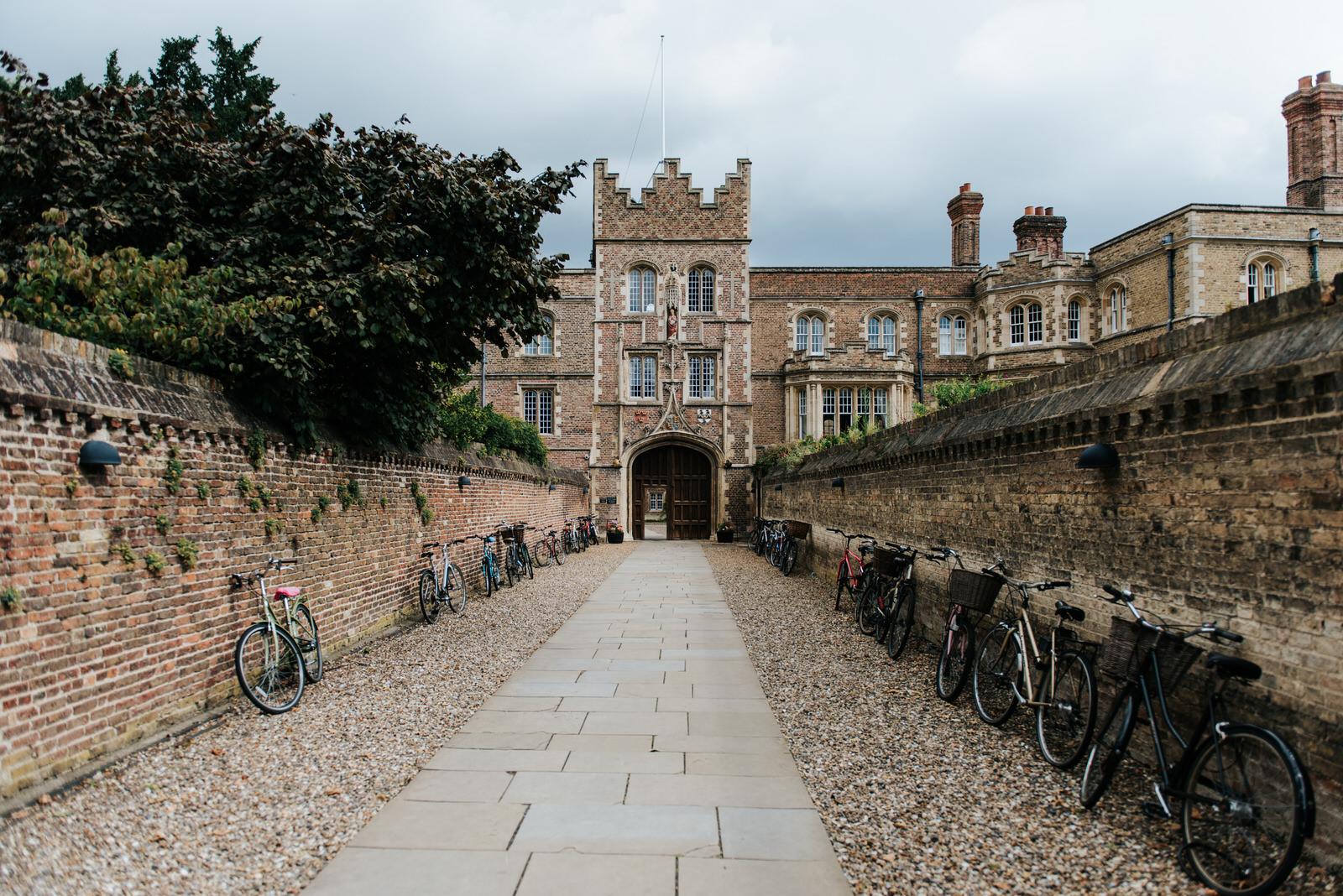 Jesus College Cambridge exterior shot of entrance
