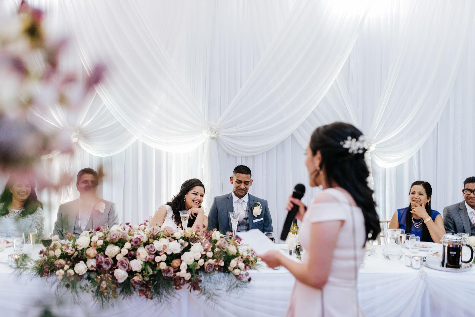 Bride's best friend delivers wedding speech at Woldingham School