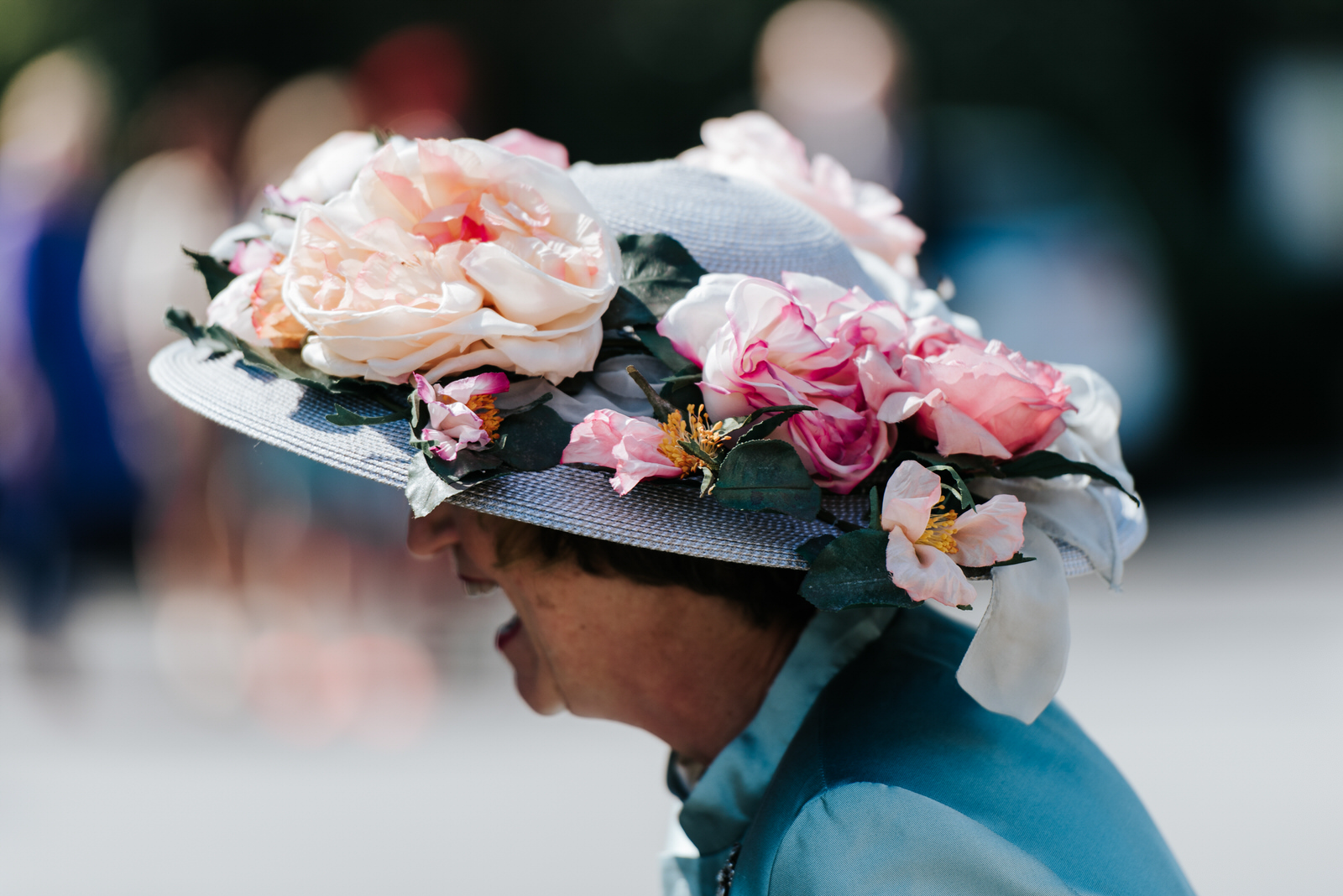 Stunning British wedding hat with real roses
