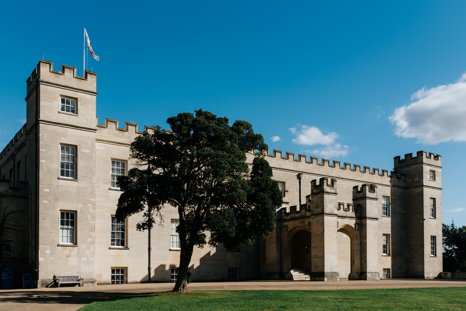 Stage-setting photo of Syon House