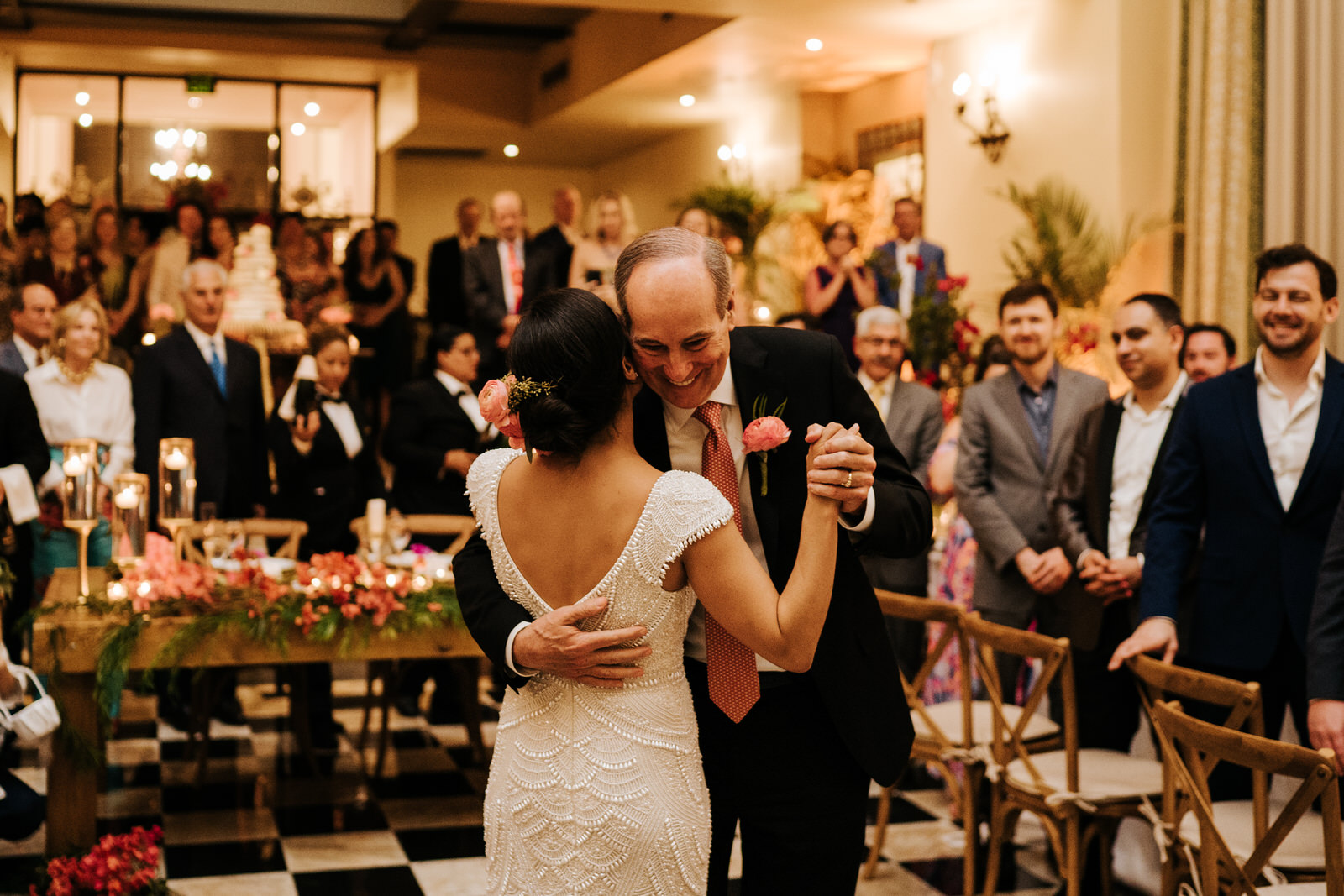 Bride dances with the father of the groom