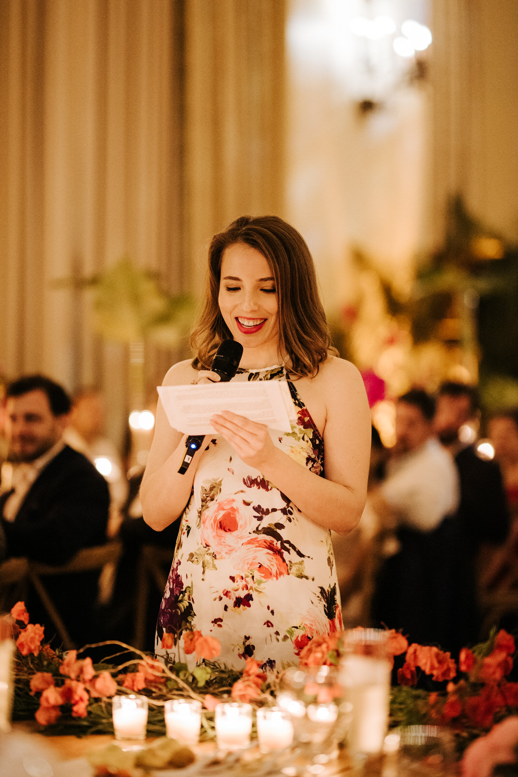 Groom's sister reads her wedding speech