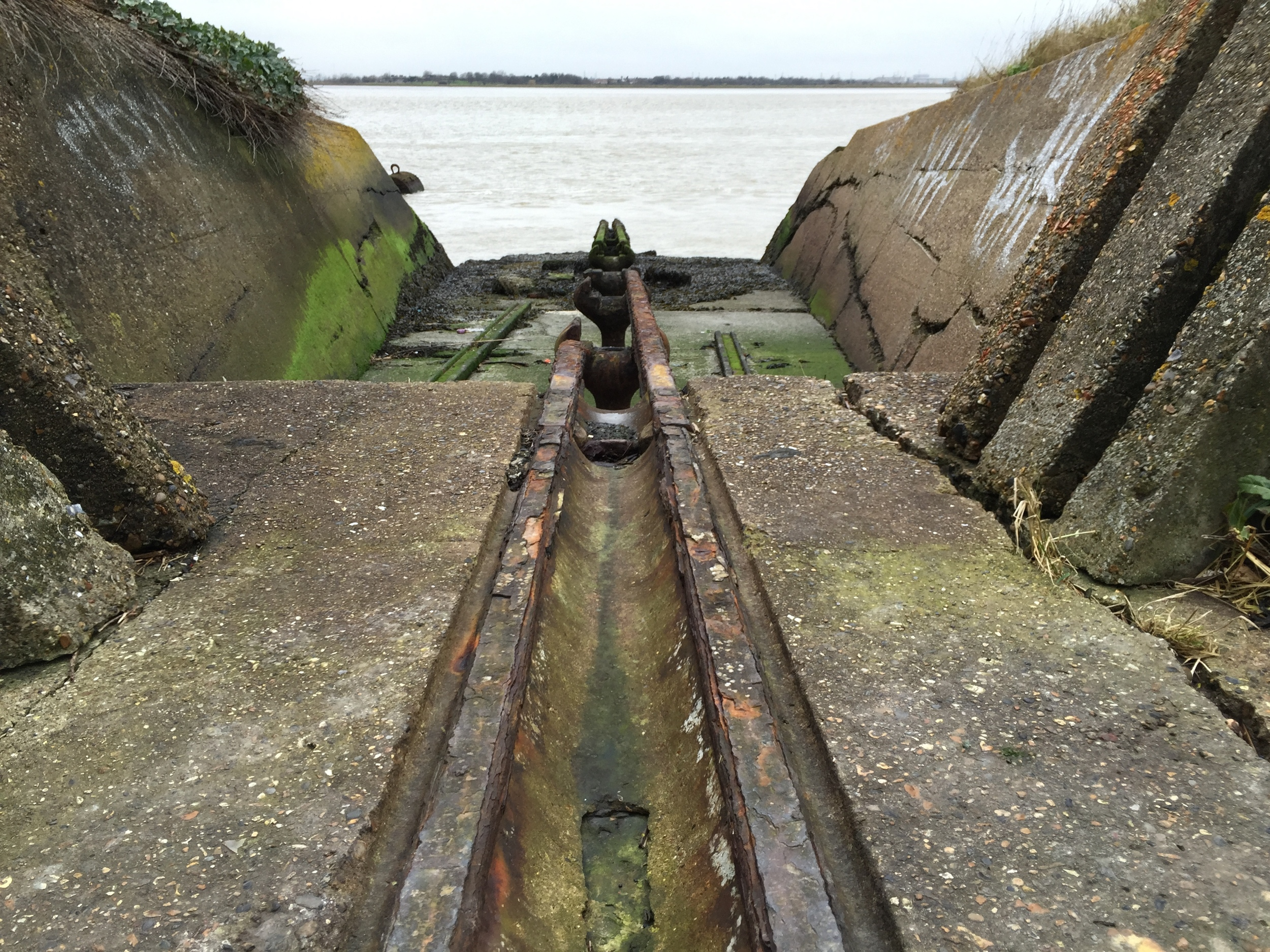Torpedo launcher at Cliffe Fort.