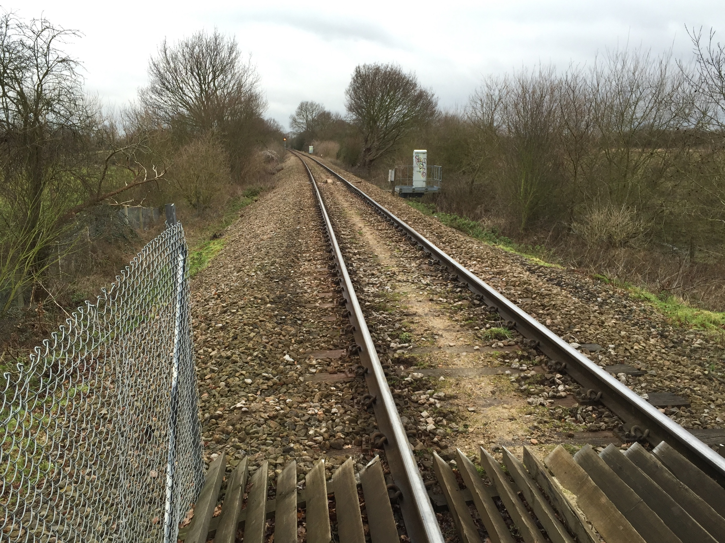 Plan your route carefully when crossing railway lines.