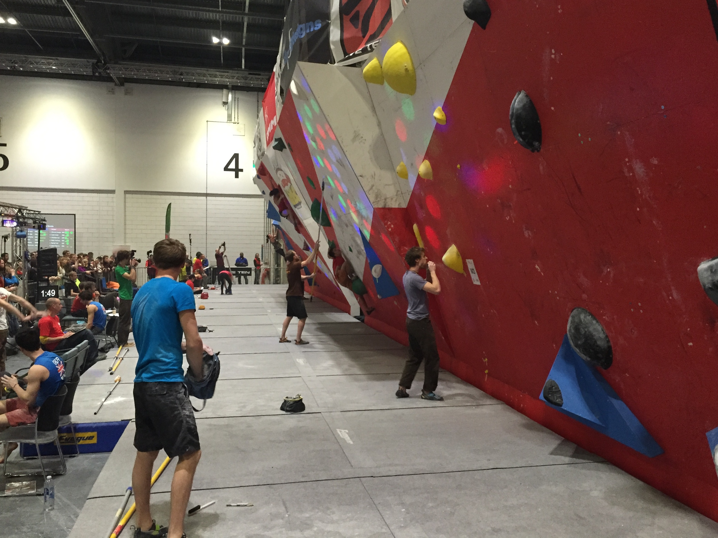 The British climbing team doing their thing.