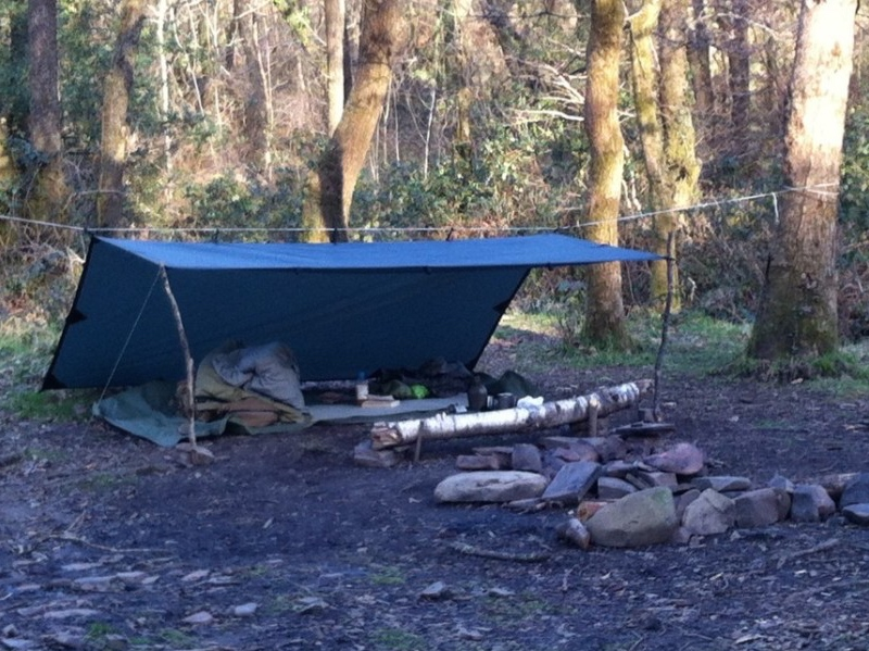 Using a tarp can be just as comfortable as a tent.