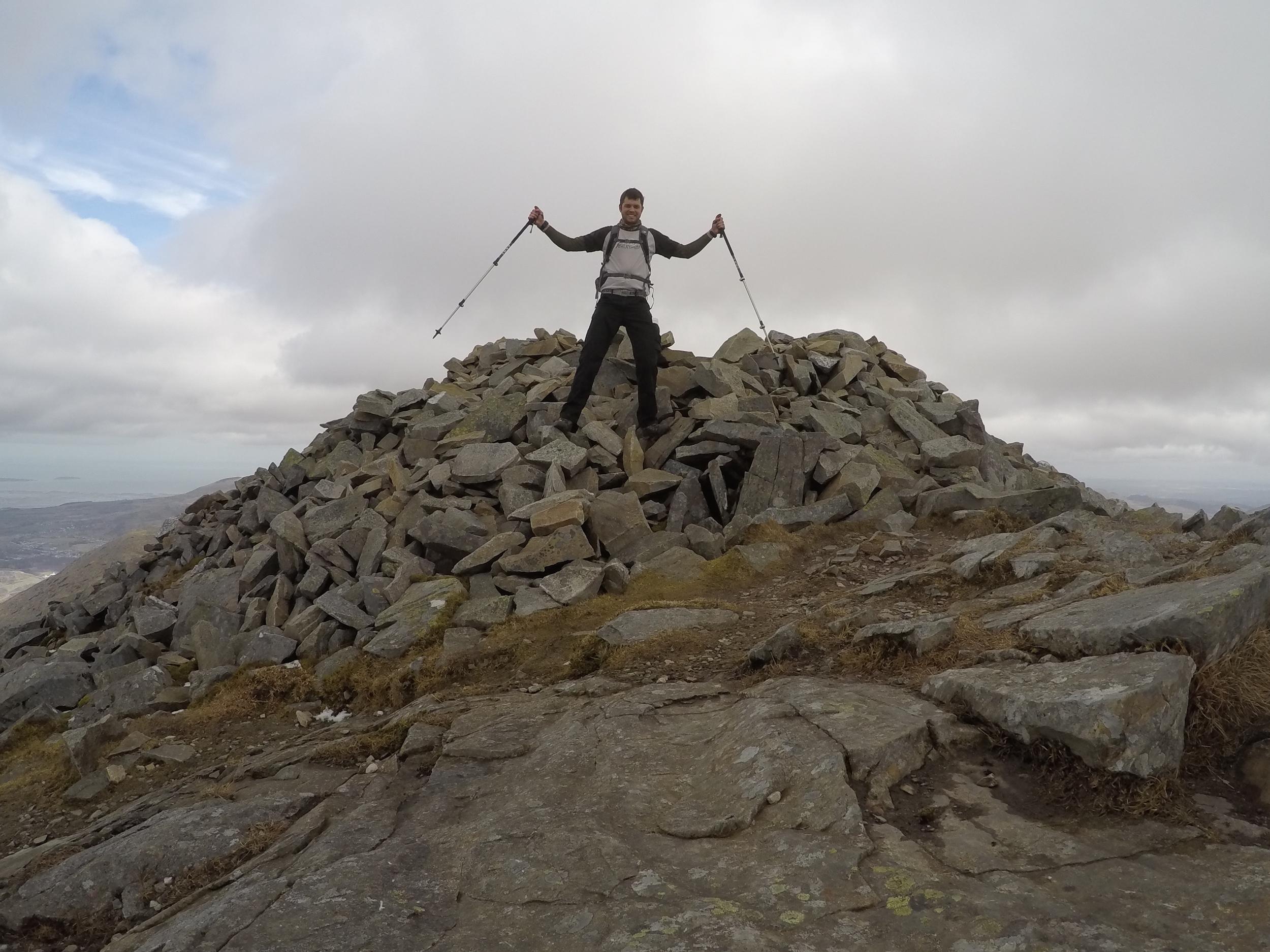 on the summit of elidir fawr